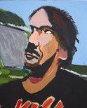 Alternate image of Studio self-portrait by Vincent Namatjira