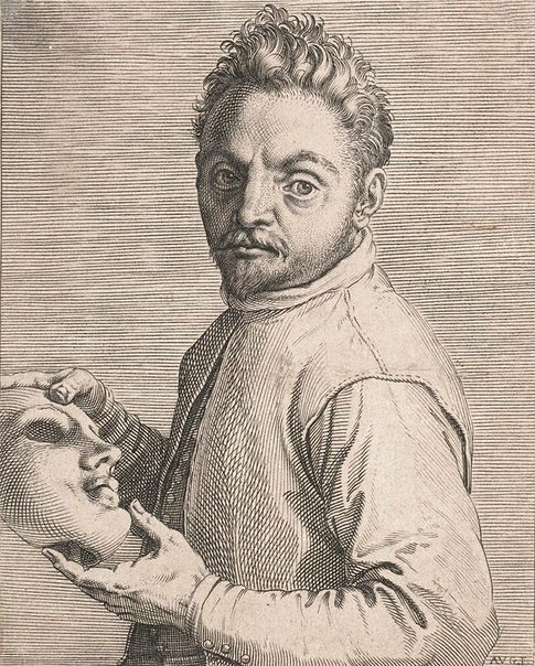 An image of Portrait of Giovanni Gabrielli, called 'Il Sivello' by Agostino Carracci