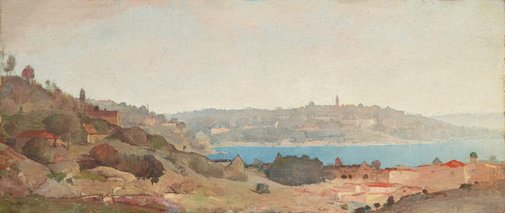 An image of Sydney Harbour by Lloyd Rees
