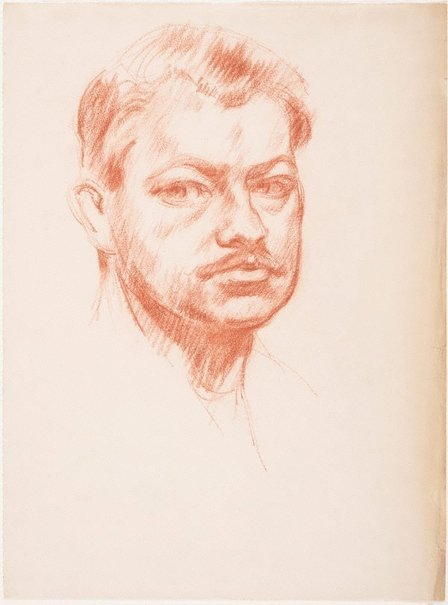 An image of Self portrait by Charles Bush