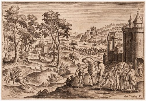 An image of Untitled (Landscape with figures) by Giovanni Temini
