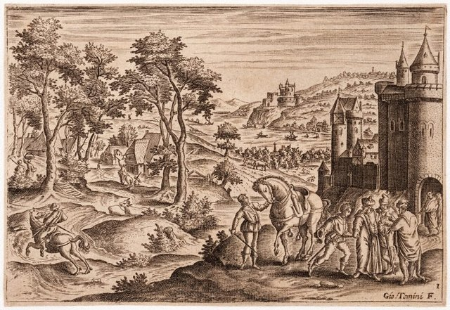 An image of Untitled (Landscape with figures)