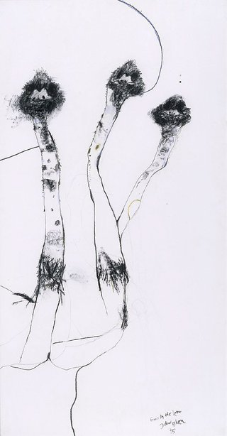 AGNSW collection John Olsen Emus by the lake (1975) 242.1991