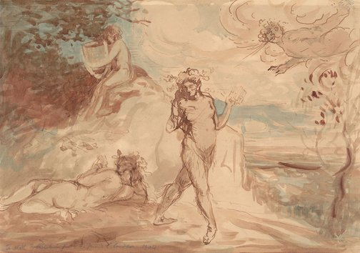An image of Allegorical subject by Charles Conder