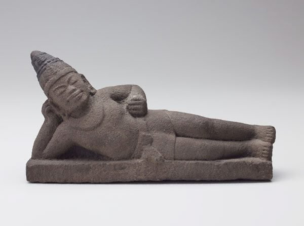 An image of Reclining figure of Vishnu