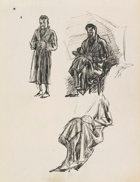 An image of Dobell in his dressing gown by William Dobell