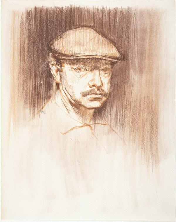 An image of Self portrait with felt cap