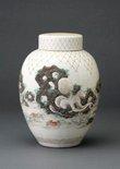 Alternate image of Jar with design of sea creatures and net in relief by MATSUMOTO Hôen, Meiji export ware