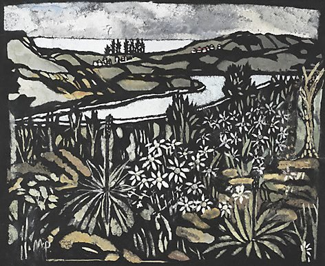 An image of Manly pines by Margaret Preston