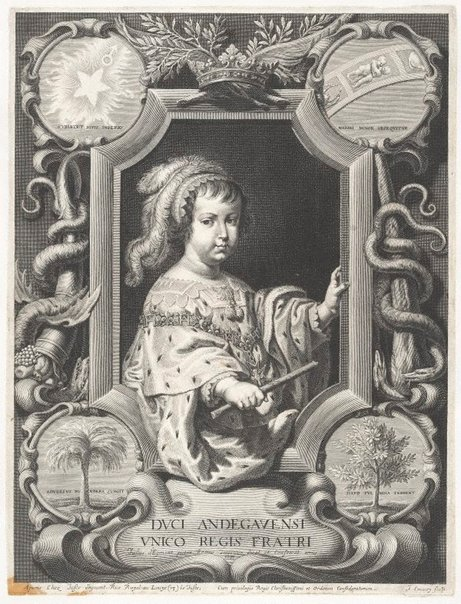 An image of Phillippe d'Orleans, brother of Louis XIV by Jean Couvay, after Justus van Egmont
