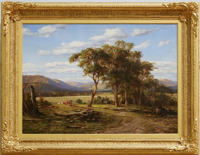 At Lilydale, (1870) by Louis Buvelot