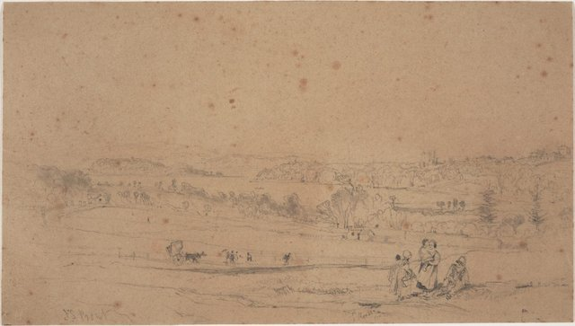 An image of Woolloomooloo Bay (Study for the lithograph in 'Sydney Illustrated')