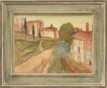 Alternate image of San Gimignano by Lloyd Rees