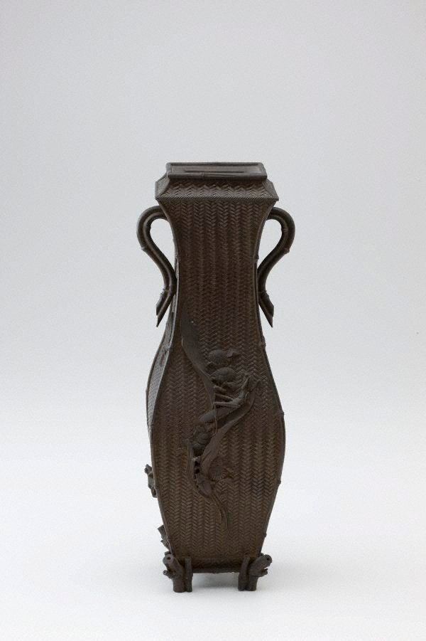 An image of Bronze vase with square neck