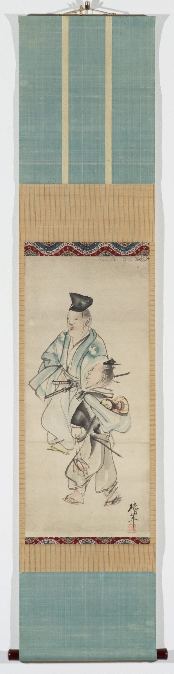 An image of (Samurai and attendant)