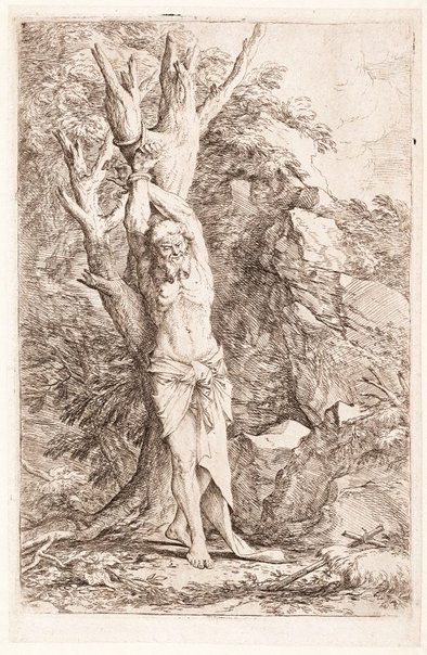 An image of Saint Albert, companion to Saint William by Salvator Rosa