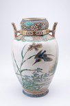 Alternate image of Vase with design of ducks by Meiji export crafts