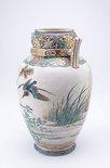 Alternate image of Vase with design of ducks by Meiji export ware