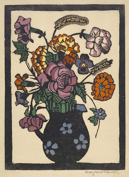 An image of Flowers in jug by Margaret Preston