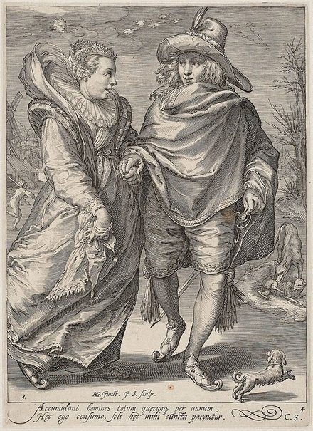 An image of Winter by Jan Saenredam, after Hendrick Goltzius