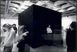 An image of Black Box: Theatre of Self Correction, Part I. Performances 1-6 [John's view], 3rd Biennale of Sydney, April-May 1979 by Mike Parr