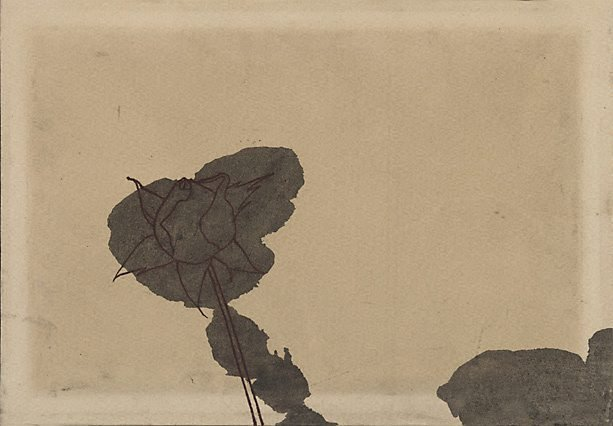 An image of Untitled (Rose and blotch)