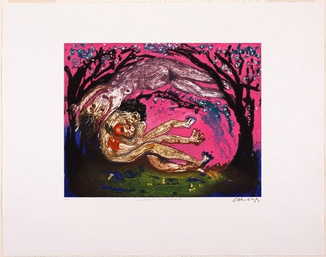 An image of Lovers in an orchard
