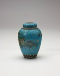 Alternate image of Tea jar decorated with flowers by Meiji export crafts