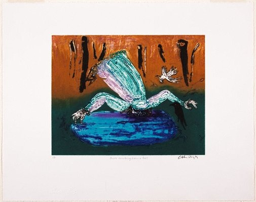 An image of Bride drinking from a fountain by Arthur Boyd