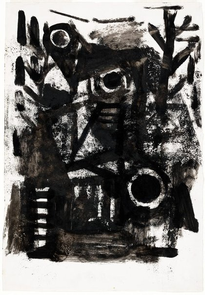 An image of Abstracted landscape by Albert Tucker