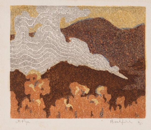 AGNSW collection Mabel Pye Bushfire 1930s