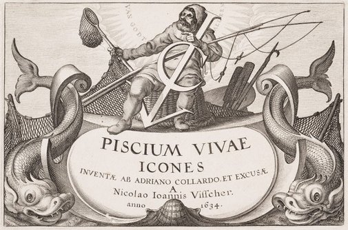 An image of Frontispiece to Piscium Vivae Icones by Adriaen Collaert
