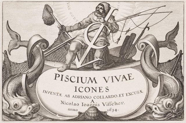 An image of Frontispiece to Piscium Vivae Icones