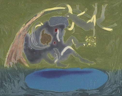 An image of Colour plate for 'Lovers' by Arthur Boyd