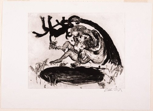 An image of Working proof for 'Lovers' by Arthur Boyd