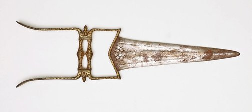 An image of Double-handled punch-dagger (katar) with cover by