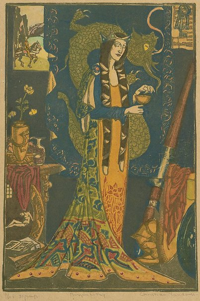 An image of Morgan Le Fay by Christian Waller
