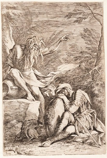 An image of The dream of Aeneas by Salvator Rosa