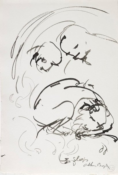 An image of (Illustration for 'Jonah' p.30) by Arthur Boyd