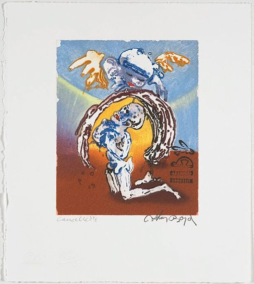 An image of Cancelled working proof for 'Jonah's prayer' by Arthur Boyd