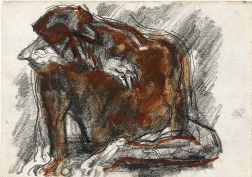 An image of Old man seated by Albert Tucker