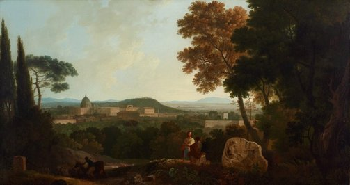 An image of St Peter's and the Vatican from the Janiculum, Rome by Richard Wilson