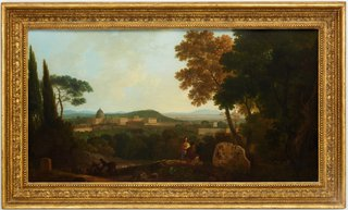 AGNSW collection Richard Wilson St Peter's and the Vatican from the Janiculum, Rome (1757-1764) 25.1971