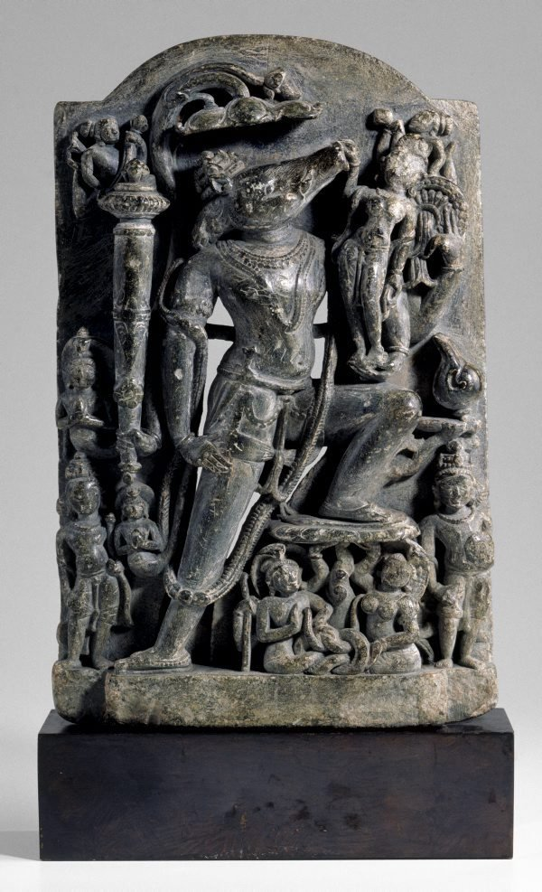 An image of Varaha rescuing the Earth Goddess, Bhudevi