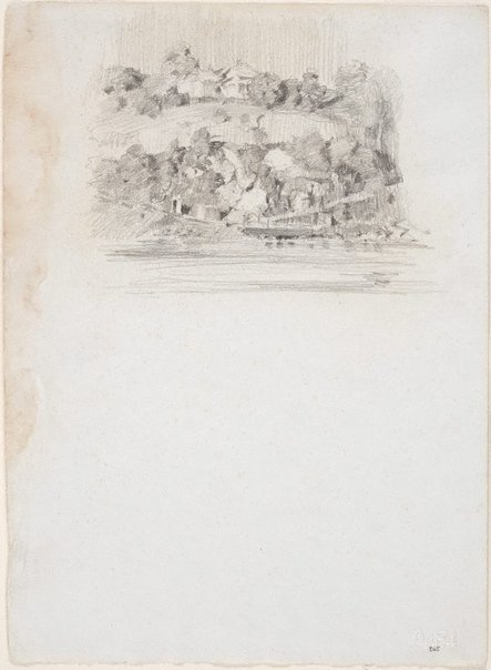 An image of House on Highgate Hill, from across the river at St Lucia by Lloyd Rees