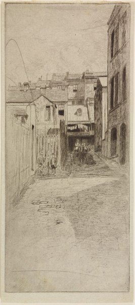 An image of Laneway to Playfair Street, The Rocks by Sydney Ure Smith
