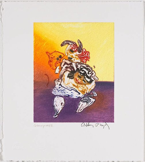 An image of Working proof for 'Jonah's dream' by Arthur Boyd