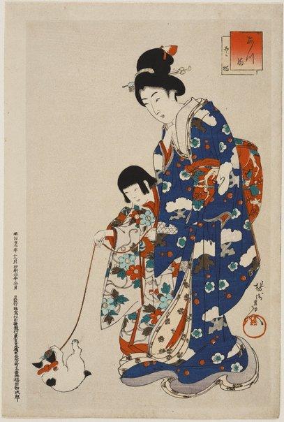 An image of Atsuma Nobori-bashi by Toyohara (Yôshû) Chikanobu