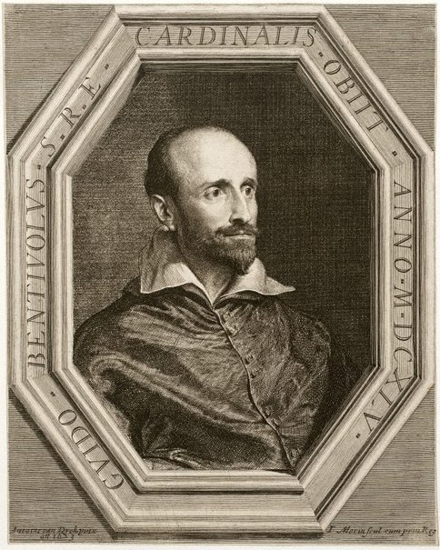 An image of Cardinal Guido Bentivoglio by Jean Morin, after Sir Anthony van Dyck