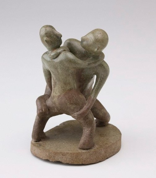 An image of Pair of wrestlers by